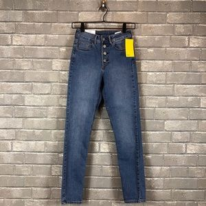 H&M Skinny Ankle High Waist Jeans with button fly.